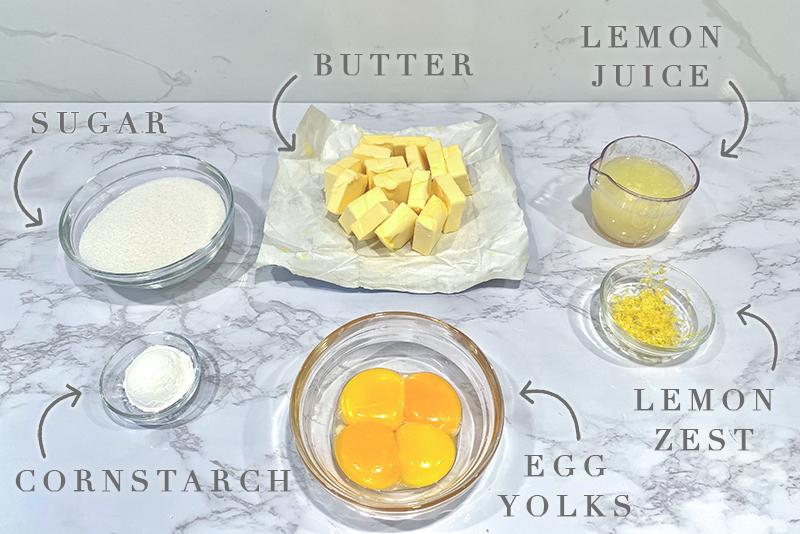 creamy lemon curd ingredients