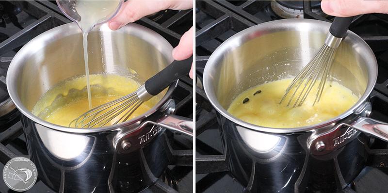 creamy raspberry curd saucepan 2