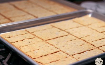 Sourdough Focaccia Crackers