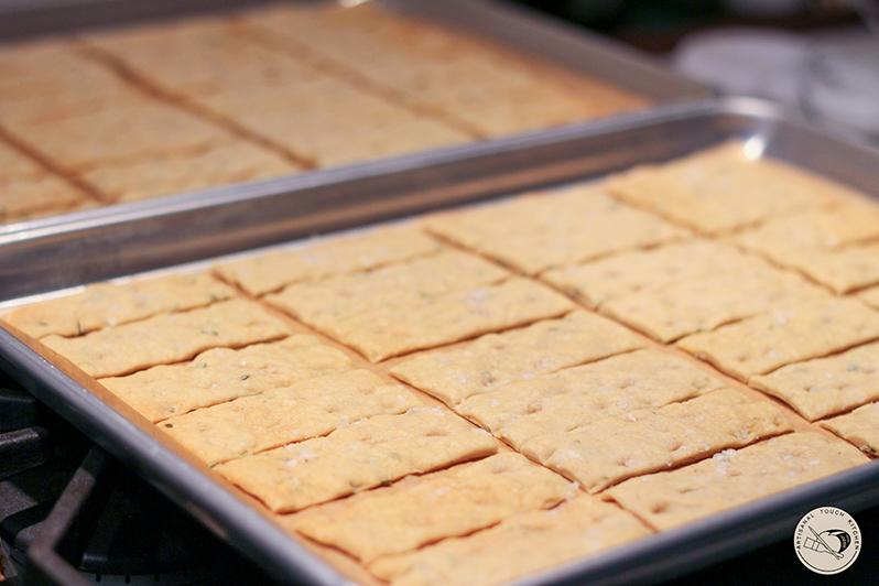 sourdough focaccia crackers after