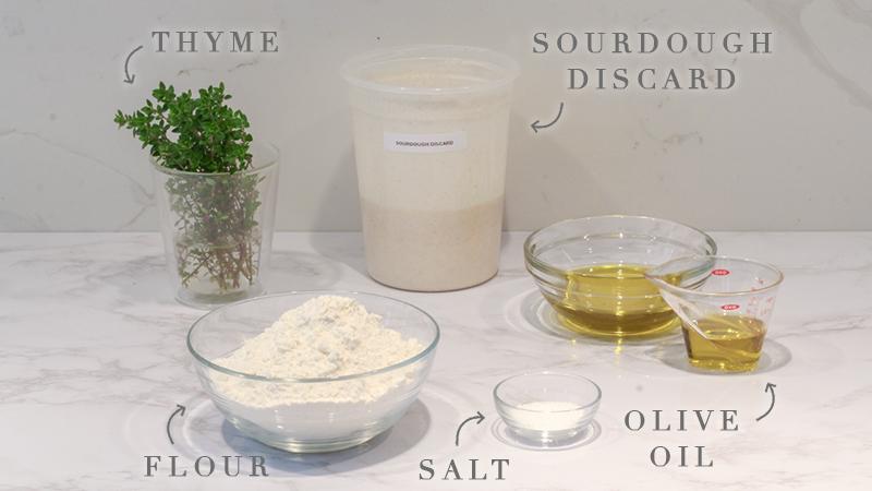 sourdough focaccia crackers ingredient list