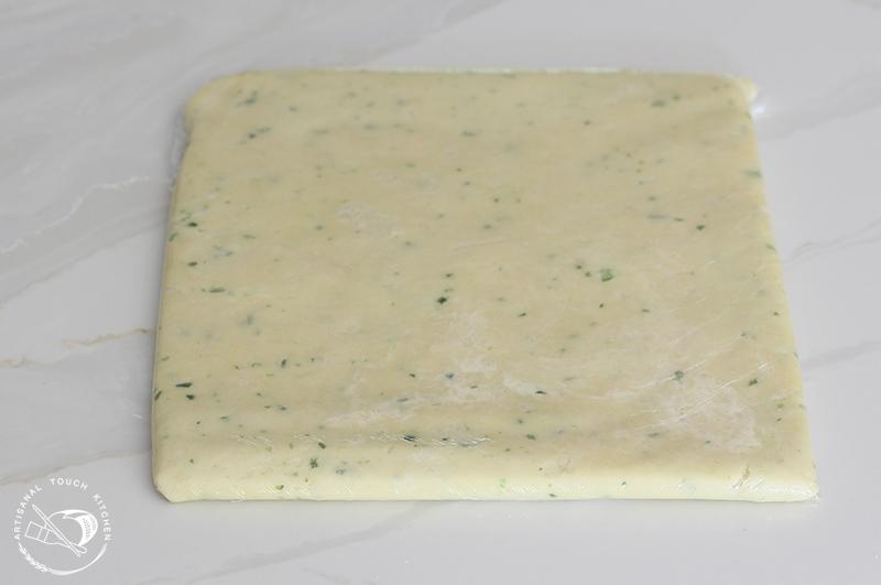 Spicy cheddar shortbread crackers dough 4