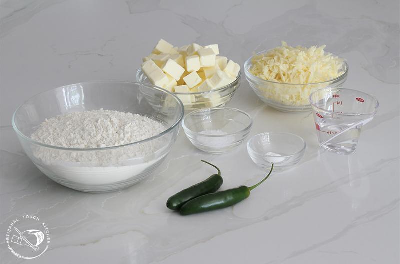 Spicy cheddar shortbread crackers ingredients