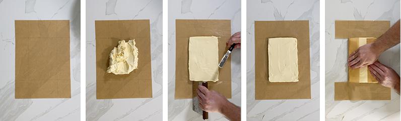 pâte feuilletée butter block