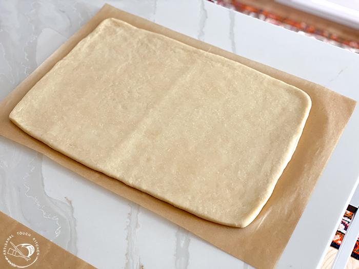 pâte feuilletée dough rolled