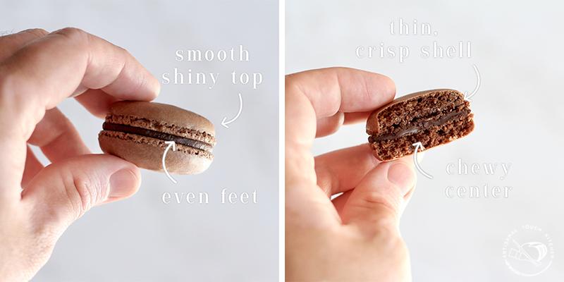 Chocolate macarons perfect macaron