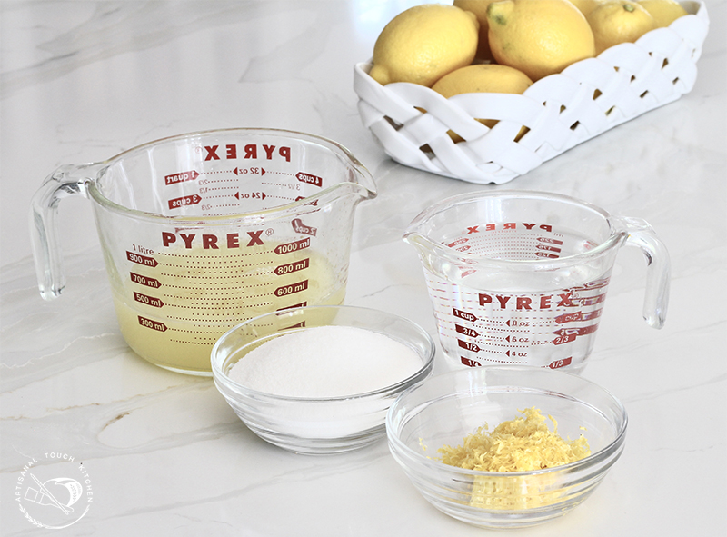 Lemon sorbet ingredients