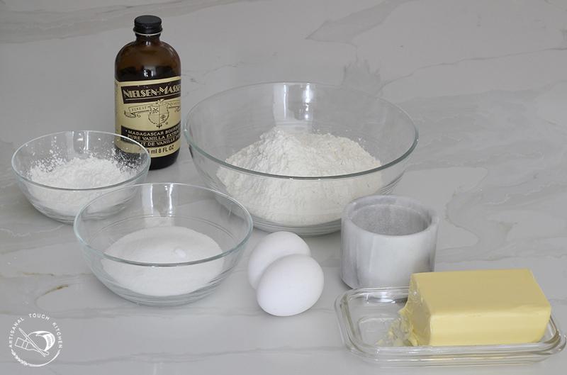 Perfect sugar cookies ingredients 1