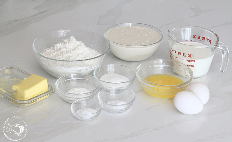 Sourdough pancakes ingredients