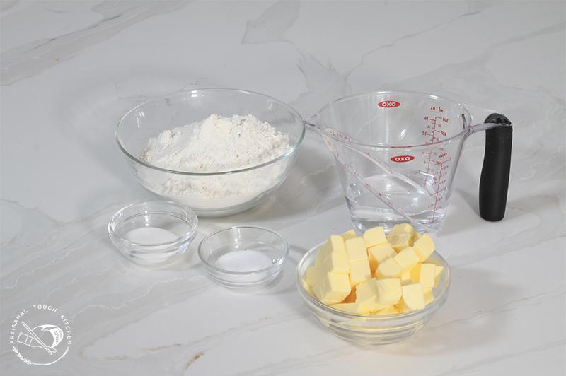 Pâte brisée ingredients