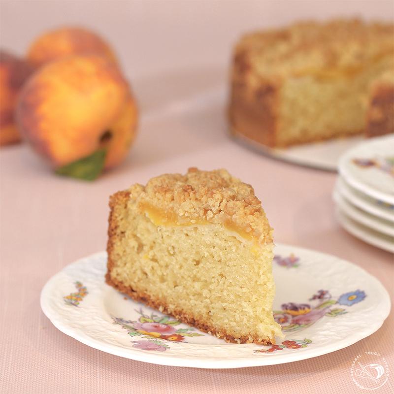 Peach cobbler sourdough cake 1
