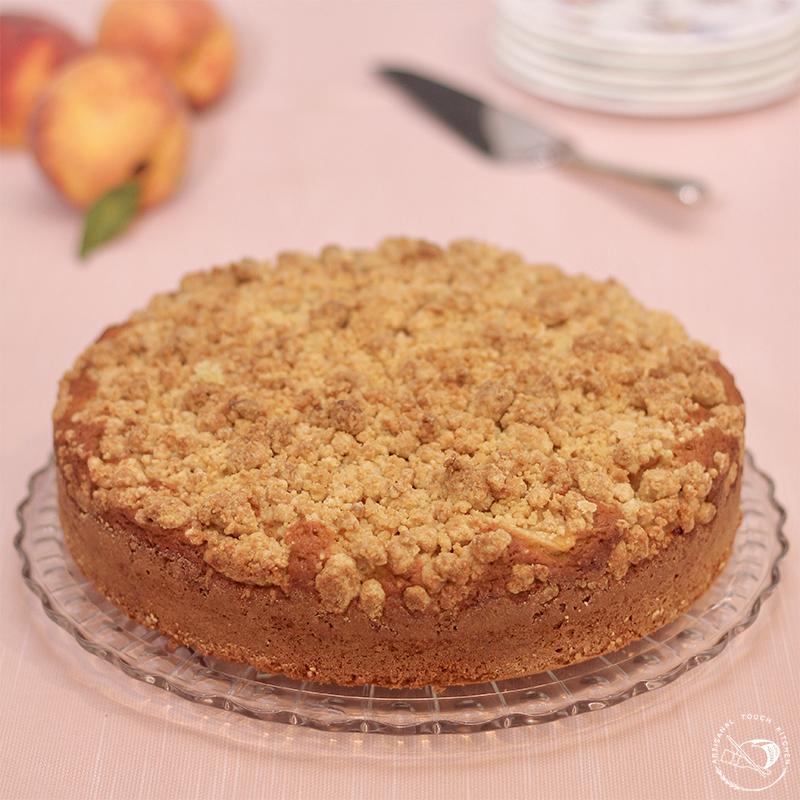 Peach cobbler sourdough cake 2