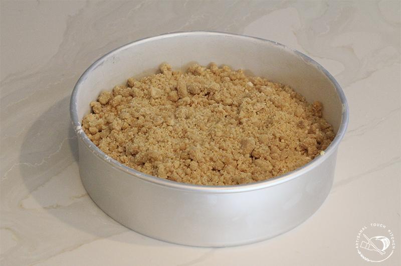 Peach cobbler sourdough cake crumble 2