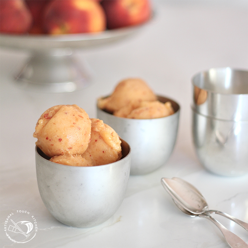 Peach sorbet 1