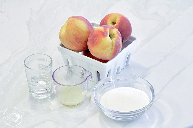 Peach sorbet ingredients 1