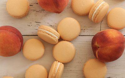 Peaches-n-Cream Macarons