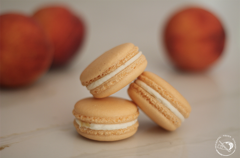 Peaches-n-cream macarons 2