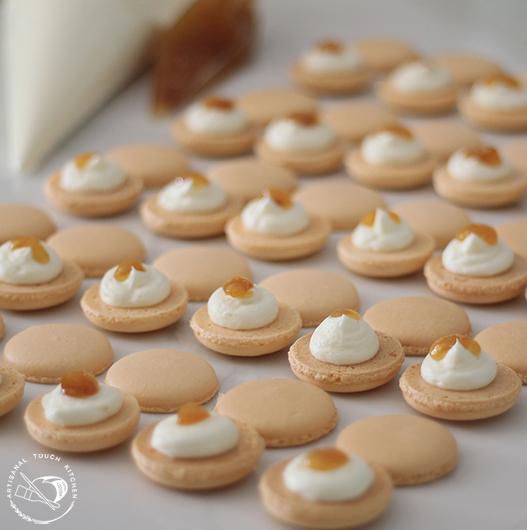 Peaches-n-cream macarons 8