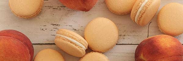 Peaches-n-cream macarons recipe