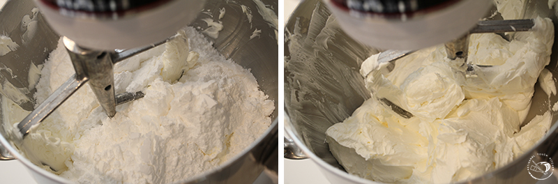 buttercream frosting mixing