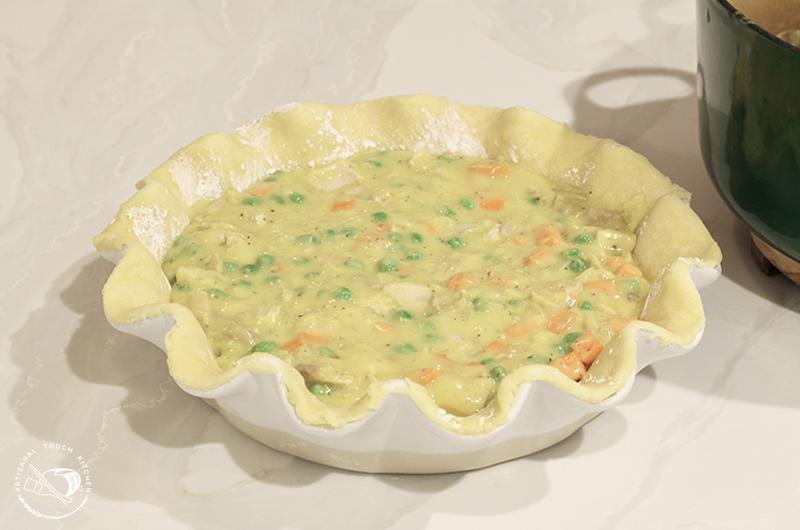 Chicken pot pie filling pâte brisée pie dough