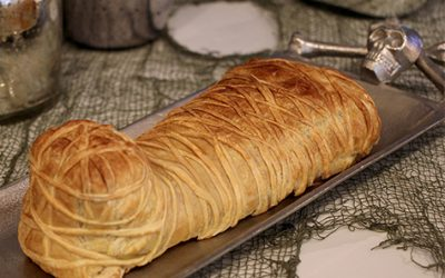 How to Make a Baked Brie Mummy for Halloween