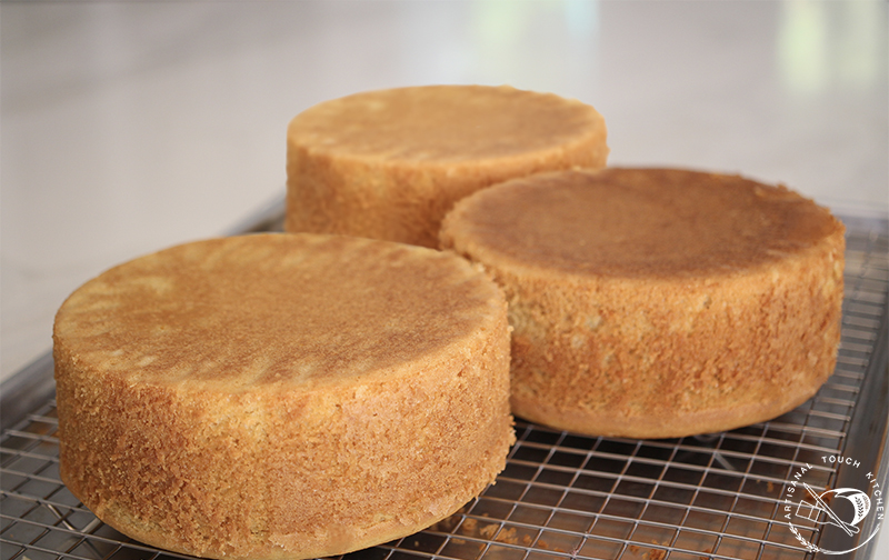 Perfect yellow cakes baked flat tops even layers