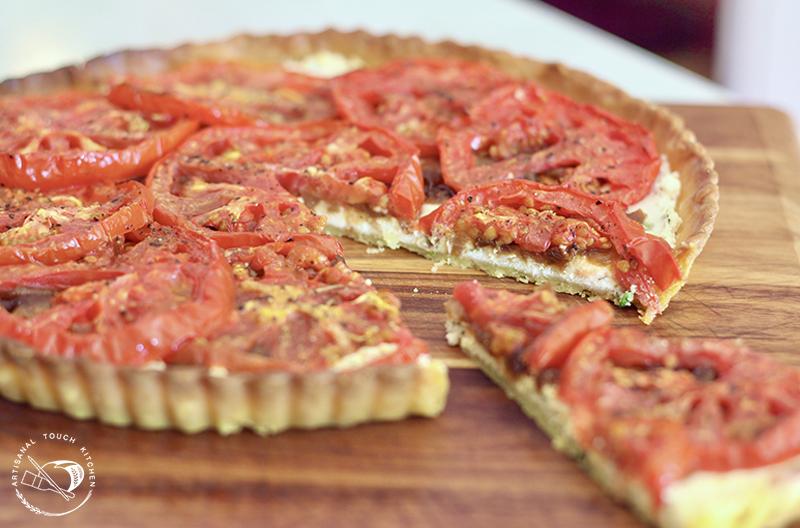 Roasted tomato tart goat cheese caramelized onions pâte brisêe shortcrust pastry tart crust