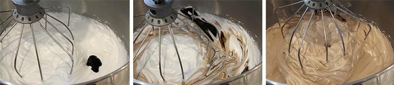 Pecan pie macarons meringue gel food coloring