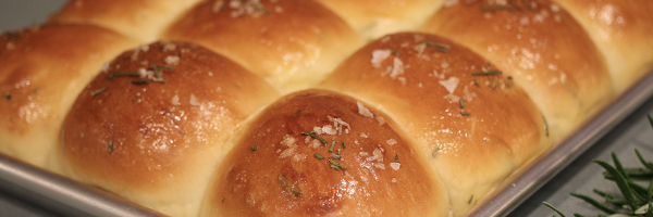 Sourdough rosemary pull apart rolls recipe