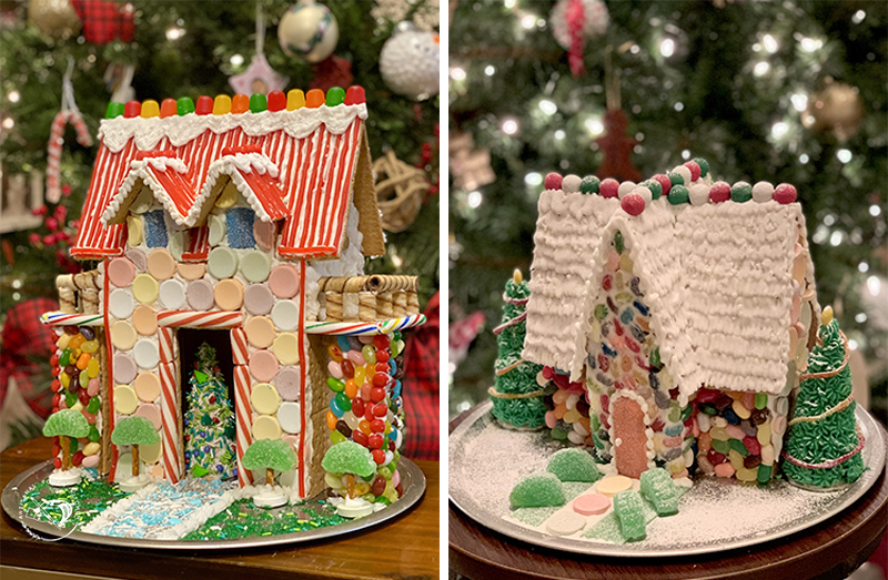 Graham cracker gingerbread houses candy decorated