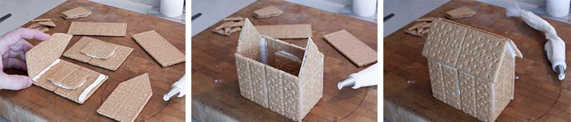 Graham cracker gingerbread houses hot to make