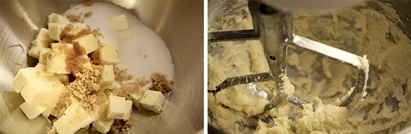 Pecan shortbread cookies sandies Cream butter sugar