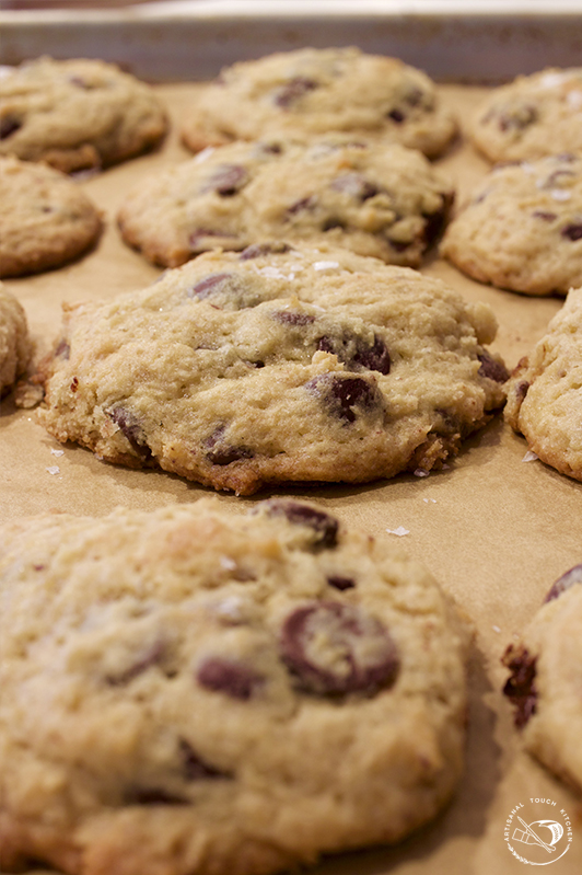 Sourdough chocolate chip cookies discard recipe Sheet tray baked