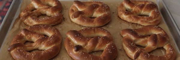 Soft sourdough pretzels recipe