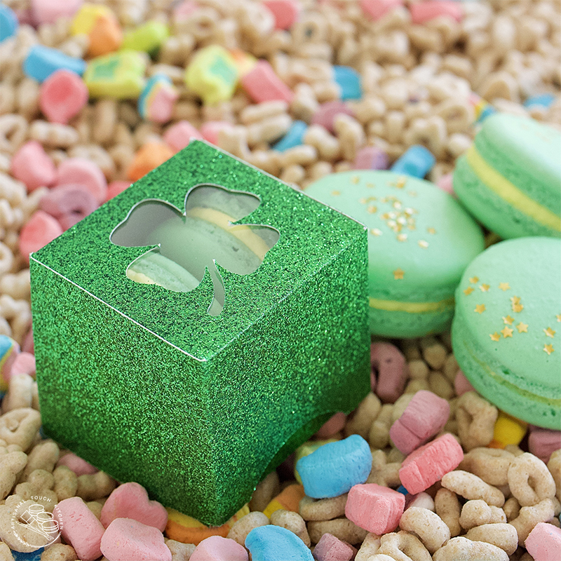 Lucky charms macarons shamrock box